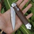 Бесплатная доставка острый Дамасская сталь импорт blacksmithing инструмент для кемпинга складной нож деревянная ручка Открытый Нож для самозащи...
