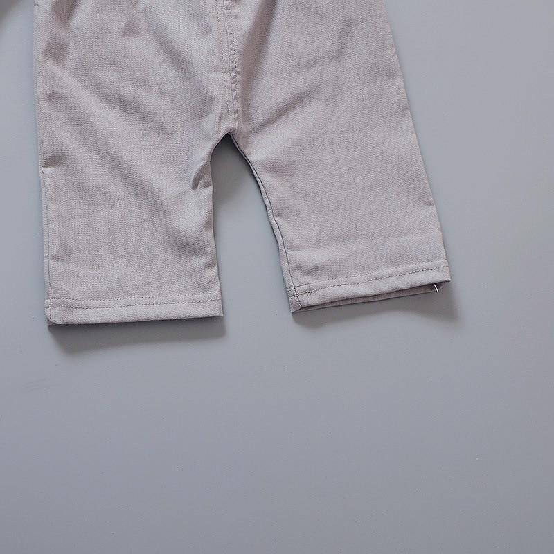 Pasgeboren baby boy kleding zomer kinderkleding korte mouwen t-shirts - Babykleding - Foto 6