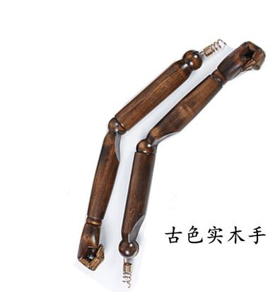Brown Half body female hand mannequin cloth for Wooden Spring hand movable joint Nuts Bolts Pins