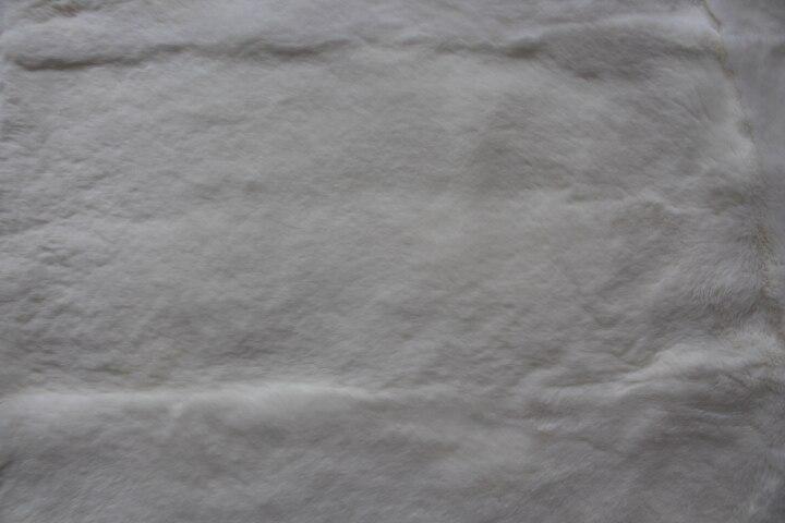 Plaque de lapin en fourrure/couverture lisse en peau de lapin rex/tapis de lapin rex peuvent être teints - 4