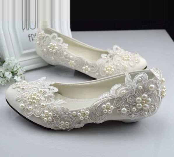 Scarpe Sposa Numero 42.Online Shop Taglie 40 41 42 Avorio Scarpe Da Sposa In Pizzo Per La