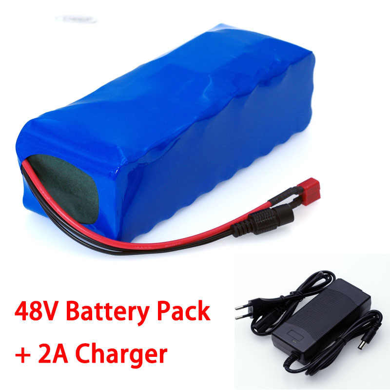 48V 12ah lithium battery 48v 12ah Electric bike battery pack with 54.6V 2A charger for 500W 750W 1000W motor