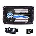 """8"""" 2 din Car DVD for Volkswagen VW golf 4 golf 5 6 touran passat B6 sharan jetta caddy transporter t5 polo tiguan with gps card"""