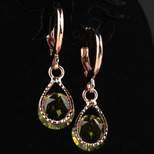 Trendy Water Drop CZ Crystal Earrings for Women Vintage Rose Gold Color Wedding Party Earrings Jewelry brinco feminino Gift