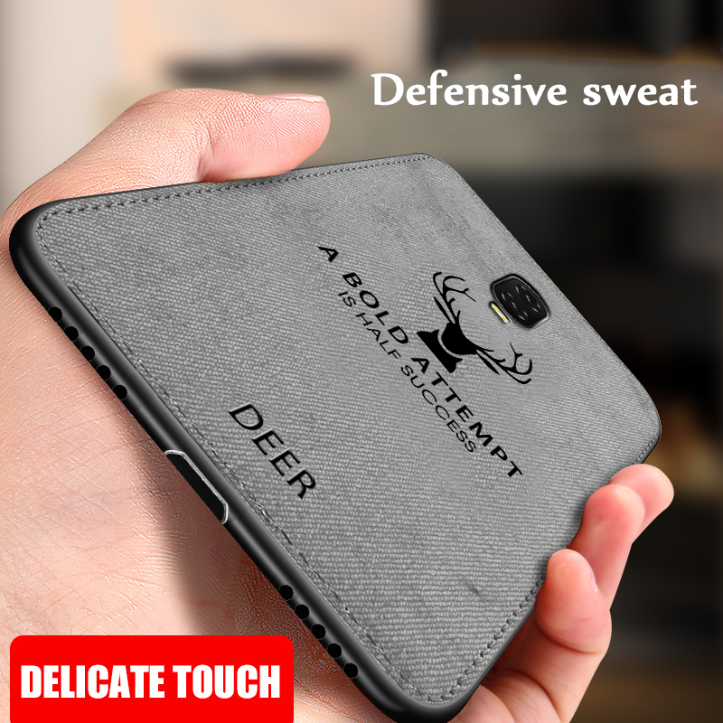 For <font><b>Oneplus</b></font> 6T <font><b>6</b></font> Cloth Texture Deer <font><b>3D</b></font> Soft TPU Canvas <font><b>Case</b></font> Hybrid TPU Fabric Cloth Skin TPU <font><b>Case</b></font> For <font><b>Oneplus</b></font> 7 Pro <font><b>6</b></font> 6t Cover image