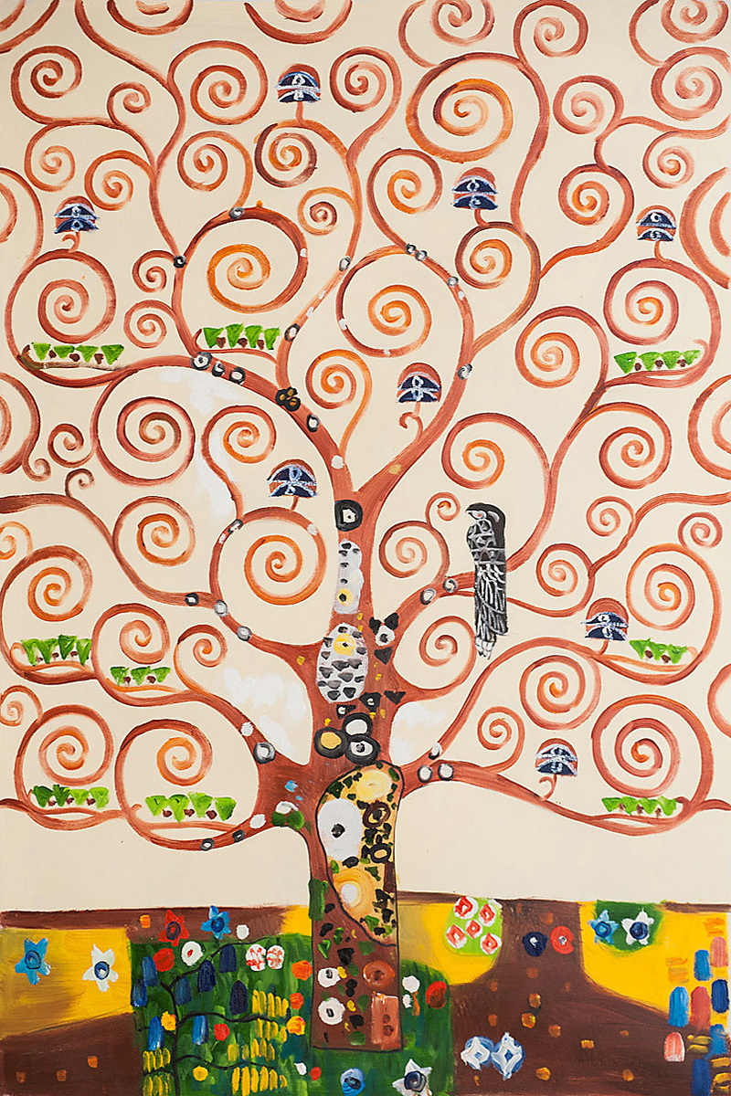Handpainted Gustav Klimt S Oil Paintings Replicas Tree Of Life Painting On Canvas Art Picture For Wall Decoration Pub