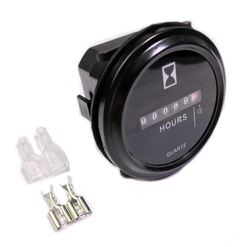 все цены на JEAZEA DC 10-80V AC 100-250V Mechanical Hour Meter Counter Timer Hourmeter For Car Boat Generator Diesel Gasolin Petrol Engine онлайн