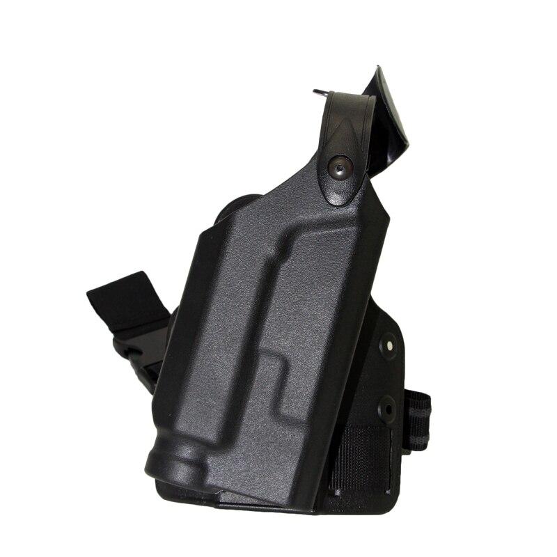 ᗗEjército airsoft linterna pierna Tactical holster con luz cojinete ...