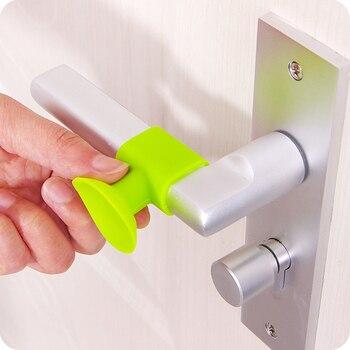Practical 2Pcs Door Handle Silicone Anticollision Sucker Home Door Protecting Pad Mute Silencer Suction Door Stops Mats