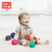 babycare Soft Rubber Puzzle Perception Baby Ball Hand Touch Massage Music Toy
