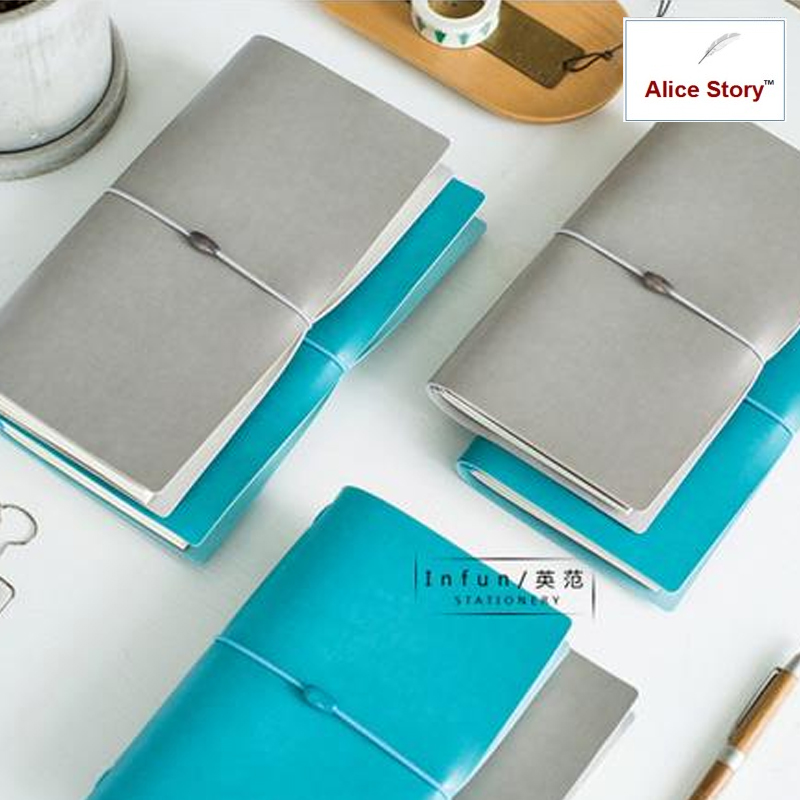 Notebook Office School Supplies met namaakleer Traveler's Notebook Journal Dagboek Vervangble Inserts 2 kleuren Stationey Gift