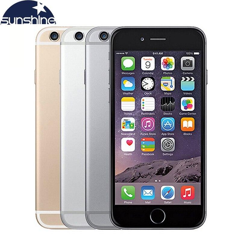 """Цена за Разблокирована Оригинальный Apple iPhone 6 LTE Сотовые телефоны 1 ГБ ОПЕРАТИВНОЙ ПАМЯТИ 16/64/128 ГБ iOS 4.7 """"8.0MP Dual Core WI FI IPS GPS Используется телефон"""