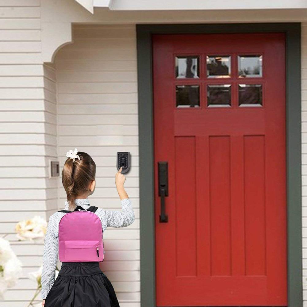 Image 3 - Wholesale Mini Wall Mounted Key Safe Secret Box with Combination Password Code Home Lock Security Holder cassaforte seguridadSafes   -