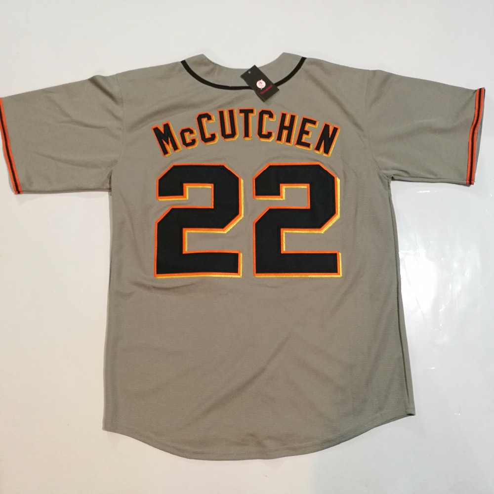 Composite Bats San Francisco and Pittsburgh #22 Andrew McCutchen Throwback Baseball Jersey Stitched S-5XL