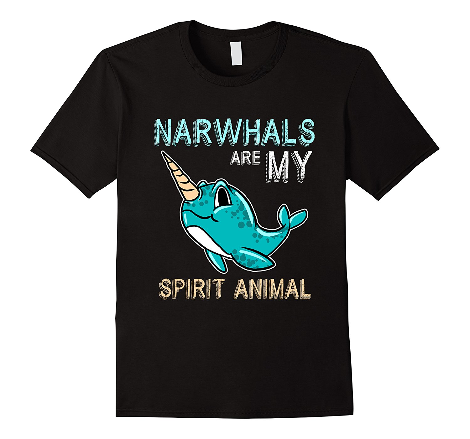 Narwhal Are My Spirit Animal Funny Cute Sea Creature T-Shirt Hot Sale Clothes Fashion Logo Printing T Shirts Top Tee