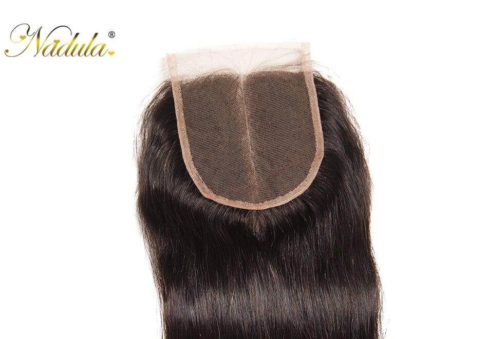 HTB1Bik0aNrvK1RjSszeq6yObFXaz Nadula Hair 3 Bundles Brazilian Straight Hair With Closure 4*4 Lace Closure With Human Hair Weaves Straight Bundles With Closure