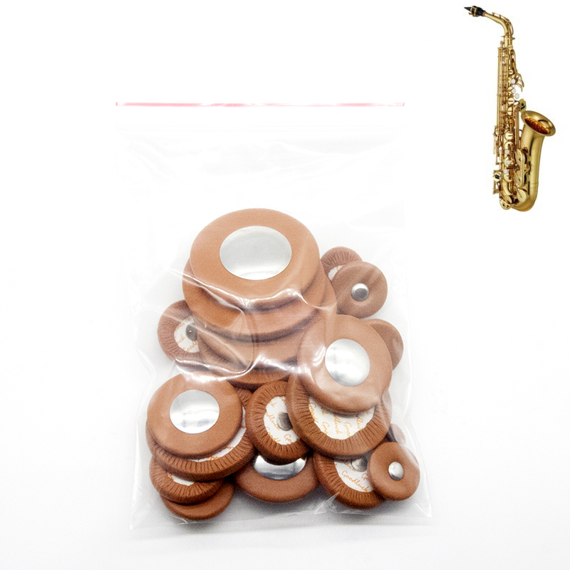 1 Set Sax Pads Universal Saophone Pads Goat Leather Pads Saxophone Button Pads Universal Generic Use For Alto Tenor Soprano Sax