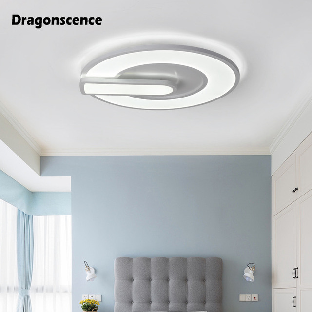 Dragonscence Modern LED chandelier lighting Switch button ceiling chandelier lamp for living dining bedroom Indoor luster avize