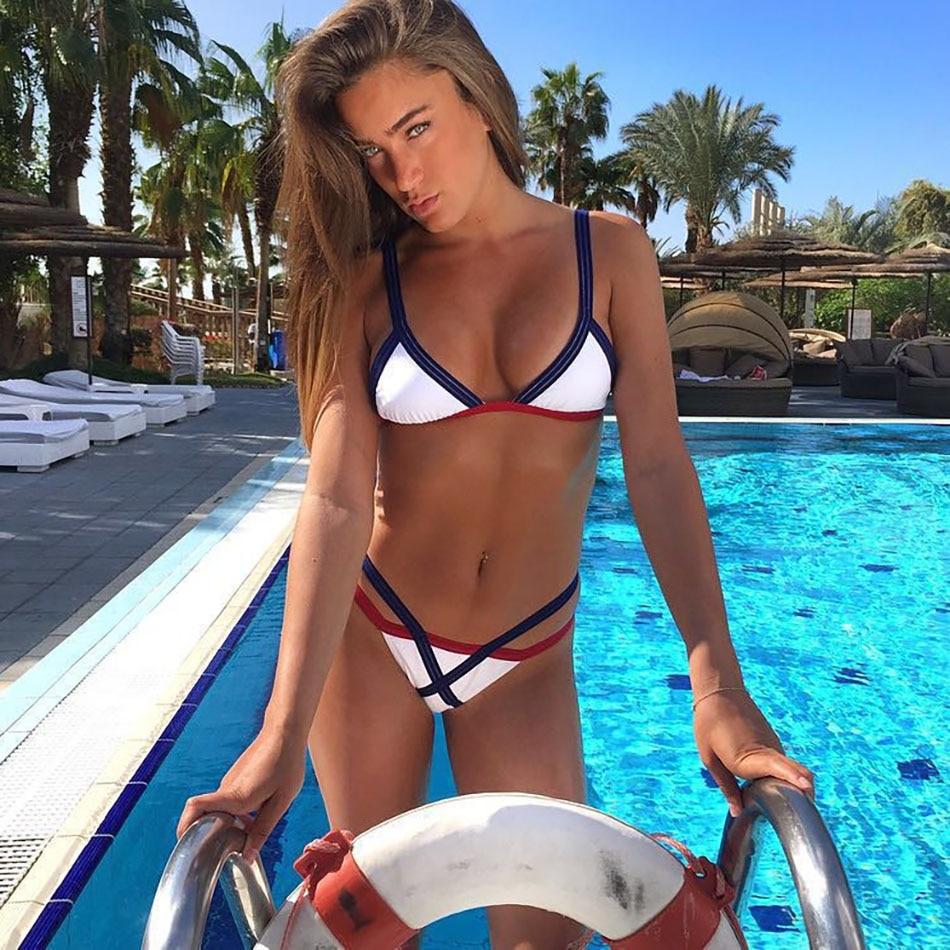 2017 VIKINII Brazilian Sexy Bikini set Bandage Swimsuit Biquinis micro mini Thong Swimwear Women Bathing Suit Maillot De Ba
