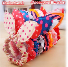 2016 Cute Girls Ponytail Holder Elastic Hair Rope Ties Rubber Band Rabbit  Ears Polka Dot Hair Accessories acessorio para cabelo