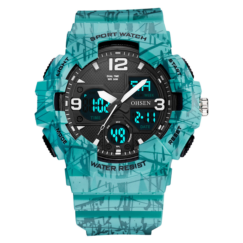 Men Sport Waterproof Analog Quartz Digital Watches Unisex Camouflage Army Military Luxury Clock Camping Relogio Masculino Montre