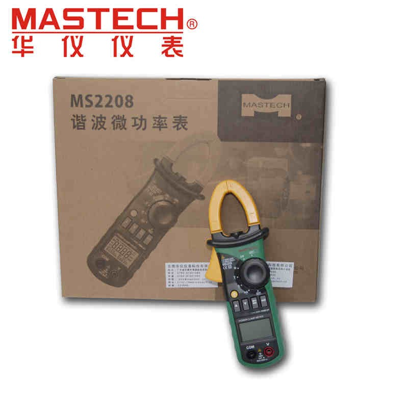 Mastech MS2208 Harmonic Power Clamp Meter Tester Multimeter Trms Voltage Current Power Phase Angle Test (4)
