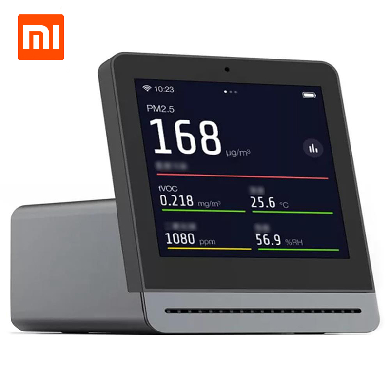 "Original Xiaomi Clear Grass Air Detector 3.1"" Retina Touch IPS Screen Mobile Touch Operation Indoor Outdoor Air Detector-in Smart Remote Control from Consumer Electronics"
