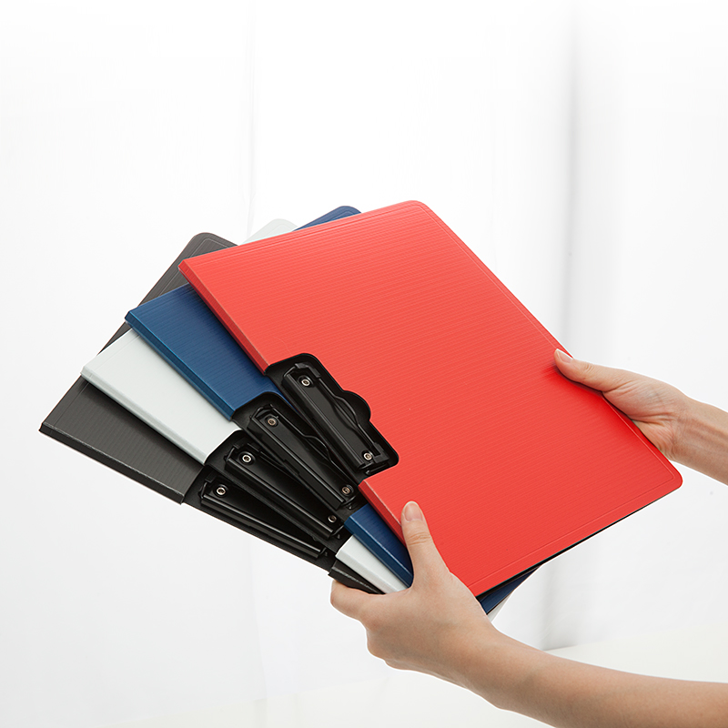 Thicken Plastic Clip File Folder A4 / Letter Size Office Stationery Paper Reports Documents Contract Presentation Folder Black