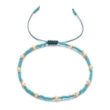 ZMZY Fashion Handmade Thin Seed Beads Bracelet Multi-layer Colors Charm Boho Cord Bracelets for Women Bracelets Jewelry Gifts