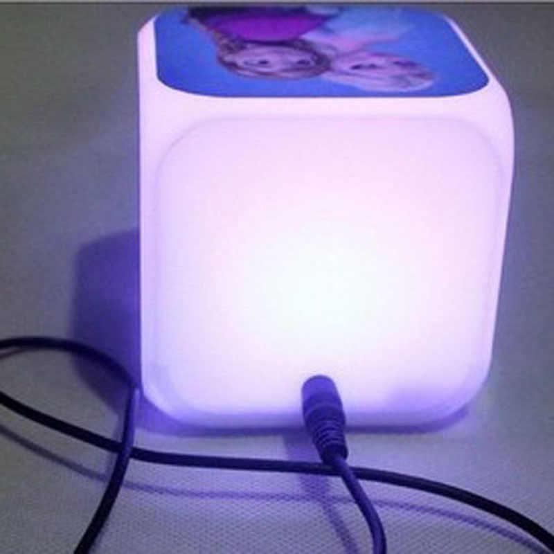 2019 Бесплатная Прямая доставка шаблон фильм ТВ часы Моана цифровые часы принцесса Моана игрушки 7 цветов светодиодный ночь будильник