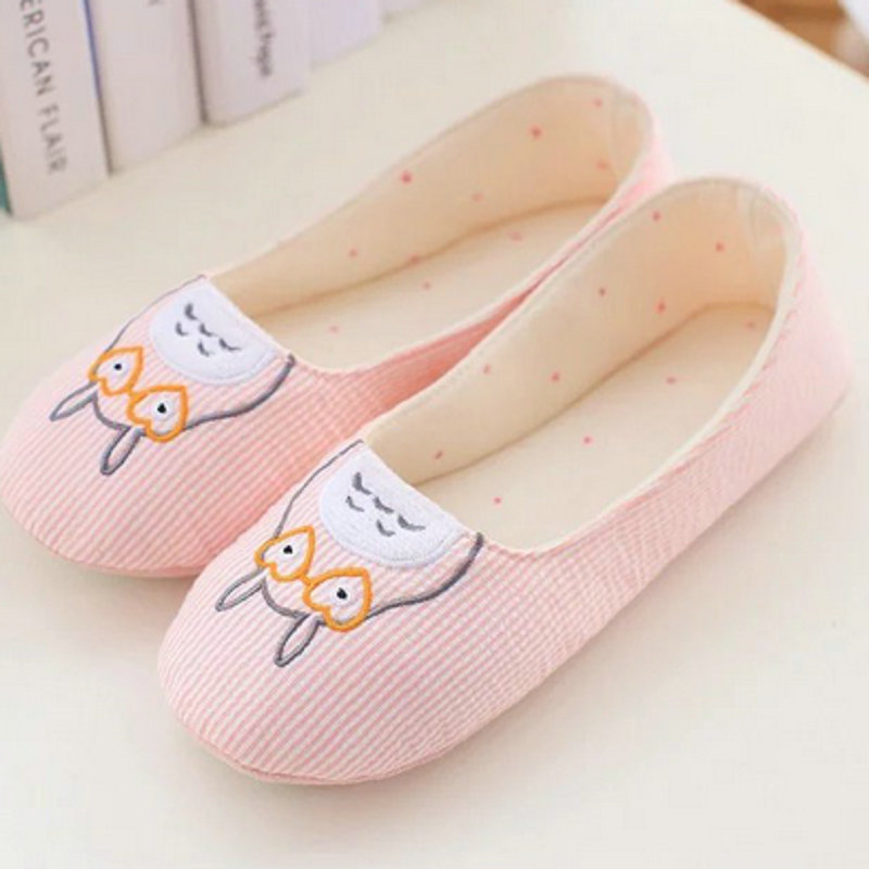 Cute Totoro spring Women Home Slippers For Indoor Bedroom House Soft Bottom  Shoes Adult  Flats Christmas Gift soft house coral plush slippers shoes white