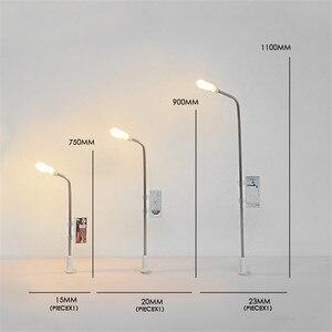 10pcs/lot Single Head Metal Led Street Train Model Construction Sand Table Model Making Material LED Luminous
