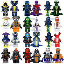 ФОТО hotempo 24pcs ninjagoes 31035 heroes lloyd ash master vermin sensei wu the wei snake bronk zane blocks gift baby toys