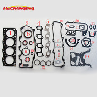 customized LOGO 3L For TOYOTA HILUX II HIACE DYNA 150 2.7 Diesel Enging Rebuilding kits Automotive Parts Engine Gasket 51009400