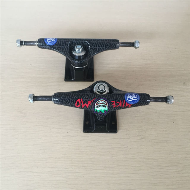 Original 5.25 Royal MIKE MOTruck for Skateboarding made by Aluminum with spitfirie logo Cool Black Truck Skate Board