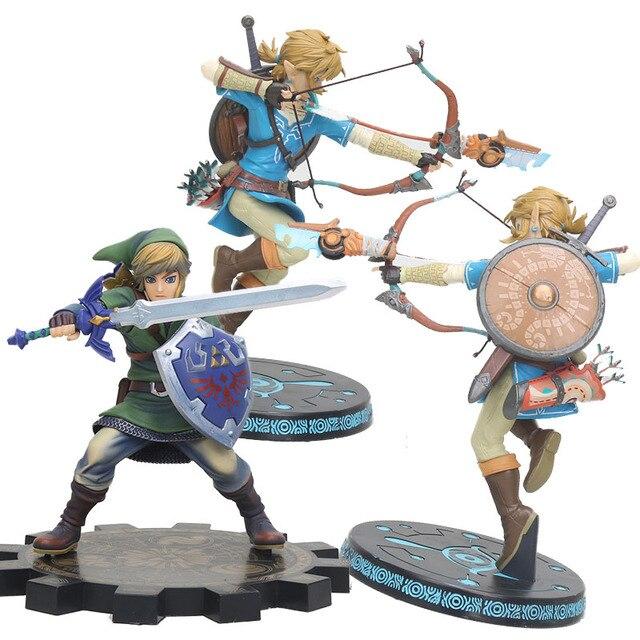big size Link Zelda Legend of Zelda Breath of the wild Sky Ward Game Toy Zelda Sword Link Figma pvc action Figure toys