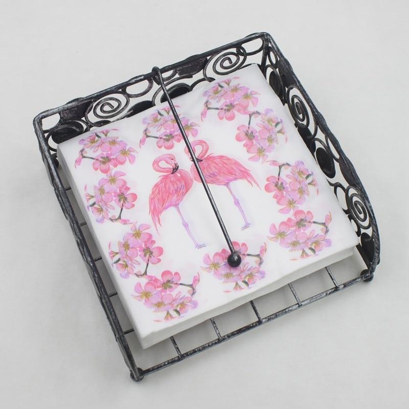 Pink Flamingo Flower Paper Napkin Festive & Party Tissue Napkin Supply Children Party Decoration Paper 33cm*33cm 20pcs/pack/lot