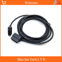 5 Meter Auto OBD2 male to female connector adapter,OBDII conversion plug,L type OBD extended cable plug for car,five meter