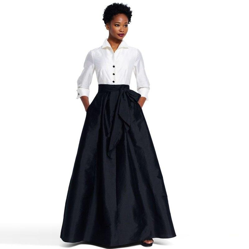 юбка зауженная черная