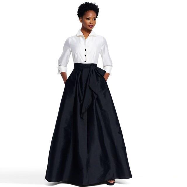 5e609a83d High Quality 2017 Custom Made Long Black Skirt Ball Gowns With Pockets  Vintage Satin Floor Length Maxi Skirts Women Zipper Skirt-in Skirts from  Women's ...