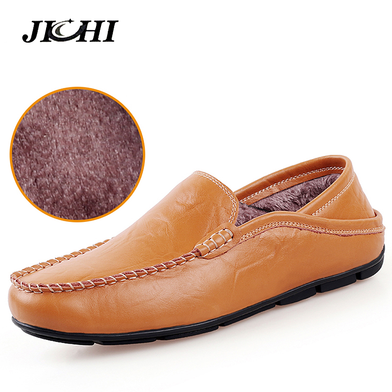 Warm Casual Driving Shoes Men Genuine Leather Loafers Men Shoes With Fur Winter Men Loafers Luxury Brand Flats Shoes Men Big Sz fashion casual driving shoes genuine leather loafers men shoes 2016 new men loafers luxury brand flats shoes men chaussure page 5