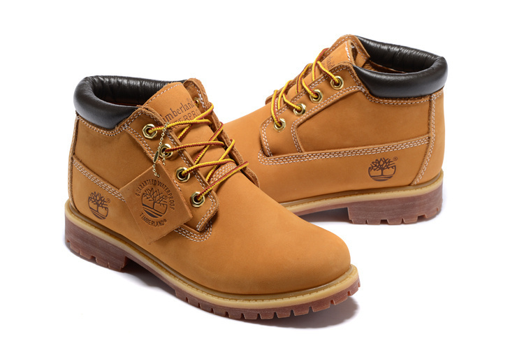 TIMBERLAND Classic Women 23061 Premium 100% Waterproof Middle-Top Ankle Boots,Woman Genuine Leather Fashion Yellow Shoes 35.5-39 1