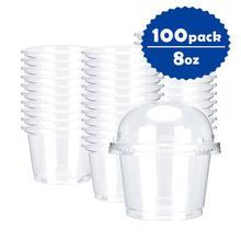 OTOR 100 шт 8 унций 10 унций одноразовый контейнер для пищевых продуктов для Пудинг Желе Десерт пластиковая мини-коробка для дома вечерние товары для свадебной вечеринки