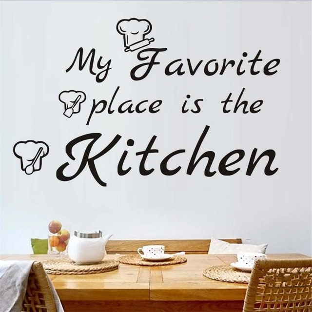 Genial My Favorite Place Is The Kitchen Wall Stickers Home Decor Art Vinyl Large  Wall Decals For