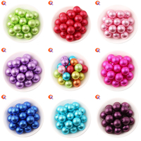 Choose Color Cordial Design Fashion Beads 100pcs Lot 20mm Chunky Bubblegum Wrinkle Pearl Bead ABS Pearl