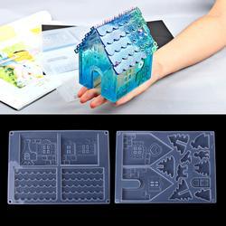 JAVRICK DIY силиконовые Рождество дом форма «Замок» эпоксидной Создание украшений из каучука Набор инструментов Новый