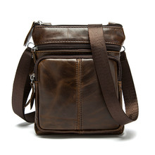 Men's Bag Business Thin Crossbody Bag office bags for men Briefcase Mobile phone bag Service Manager brown Cowhide Envelope file manager