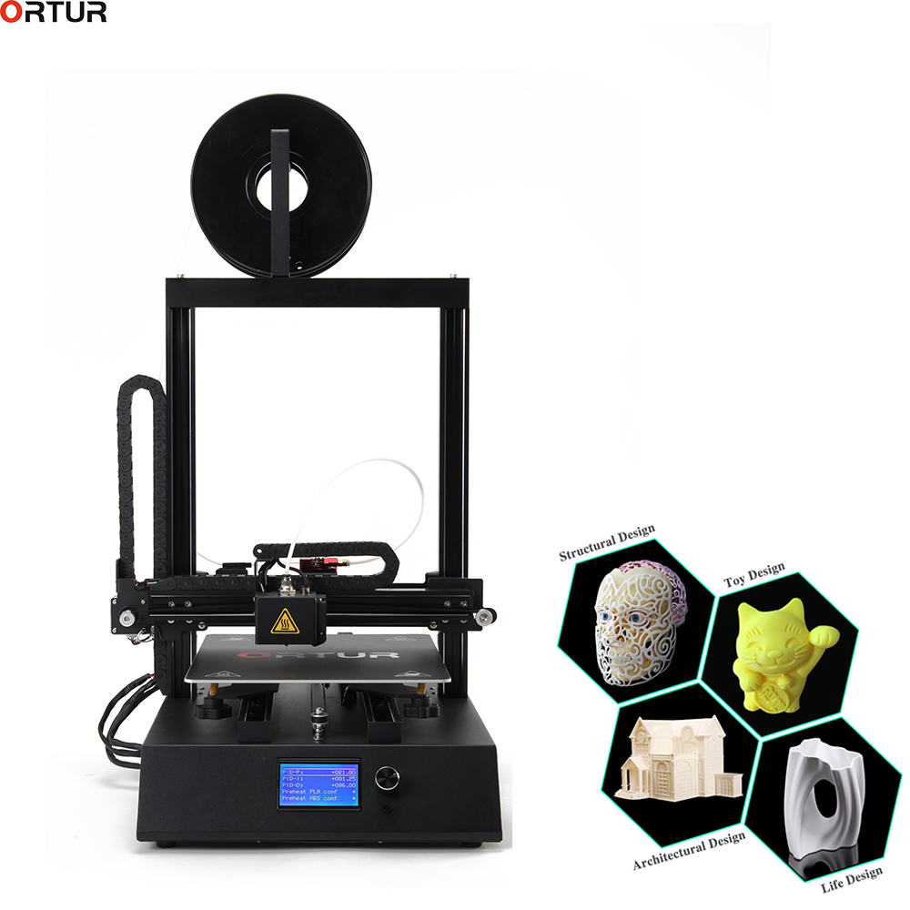 Newest 3D printer Large 260 310 305 Sheet Metal frame High Quality Precision Magnetic Pad Removable Carbon Steel Build Platform in 3D Printers from Computer Office