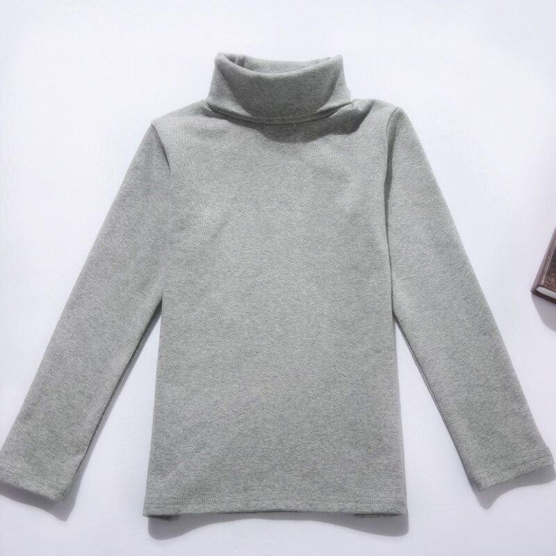 Mädchen shirts frühling herbst kinder baumwolle bodenbildung shirt kleidung jungen mädchen langarm Rollkragen T-shirt kinder clothesing