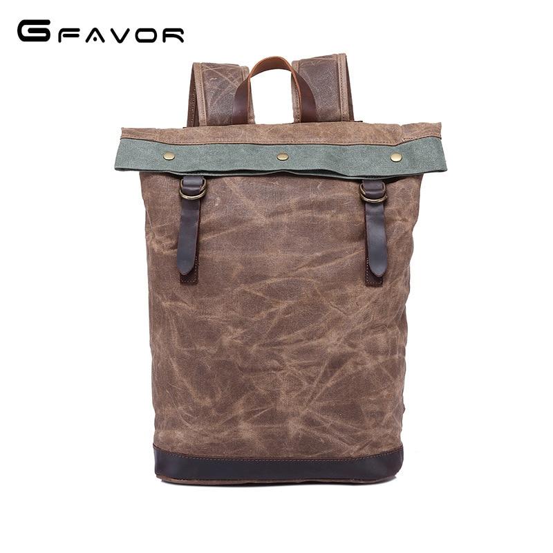 2018 new Man's Canvas Backpack Travel Schoolbag Male Backpack Men Large Capacity Rucksack Shoulder School Bag Mochila Escolar